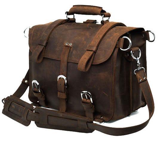 Dark Brown Student Leather Bag Delton Bags 2NOqPA5