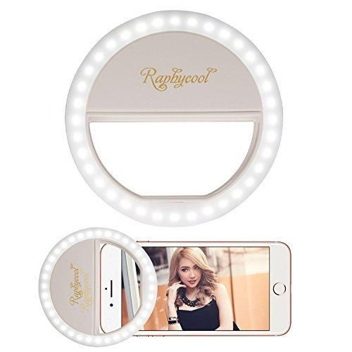 Selfie Ring Light for iPhone Raphycool 36 LED Circle Lights Fill-in Lighting for Girl Makeup Lights Night Darkness Spotlight iPhone 7 6s Plus Samsun Galaxy SmartPhones iPad and Mac Book White