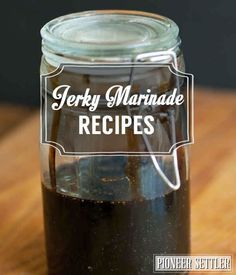 Jerky Marinade Recipes: Original, Teriyaki, and Southwestern | The Perfect Homemade Marinade  for a Super Tasty Beef Jerky by Pioneer Settler at http://pioneersettler.com/jerky-marinade-recipes/