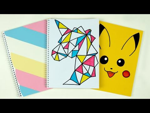 DIY: Notebook Covers! | Cutify DIY Back to School Supplies - YouTube