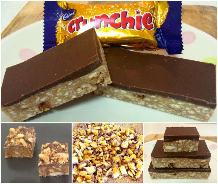 Chocolate Crunchie Slice!