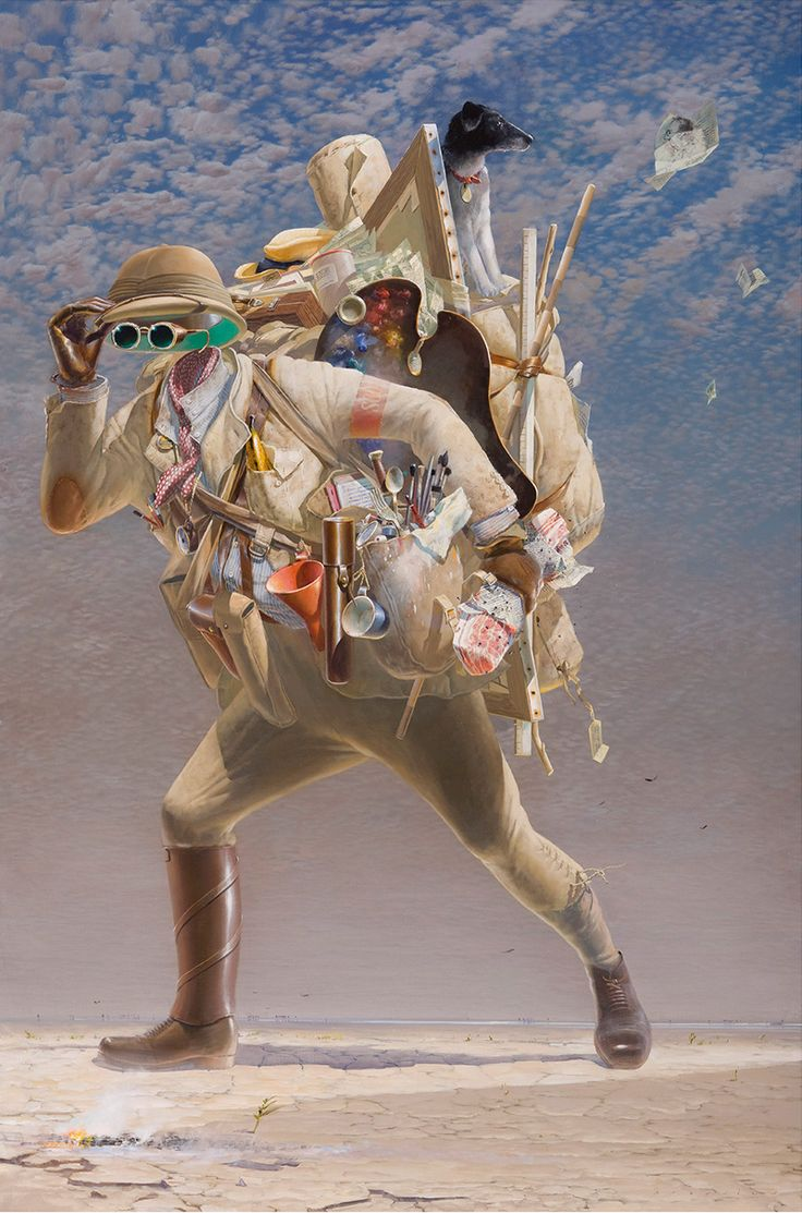 The Histrionic Wayfarer (After Bosch) 2012, Acrylic On Canvas, 183 X 122 cm  Tim Storrier.  2012 – Archibald Prize Winner.
