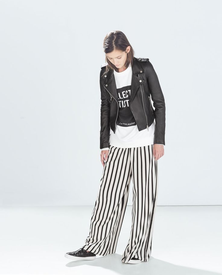 LEATHER BIKER JACKET-Collection-TRF-COLLECTION SS15 | ZARA United States