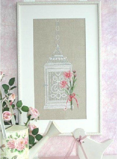 14CT Birdcage and Flower Embroidery Cross Stitch Kits