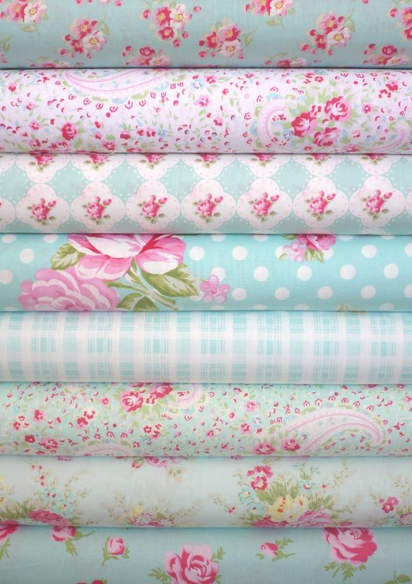 Tanya Whelan, Rosey, Teal in FAT QUARTERS 8 Total