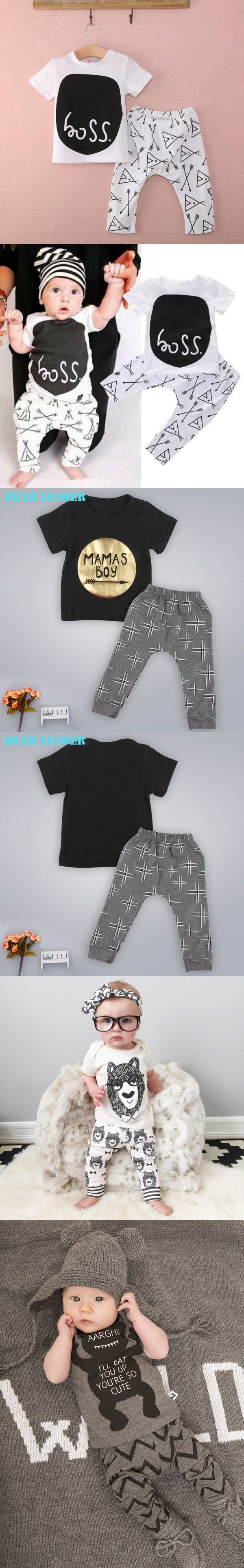 2016 New Summer New Born Baby Boy Girl T-Shirt+Pants Suit Clothing Set Clothes Newborn Sport Suits Baby Infant-clothing-china