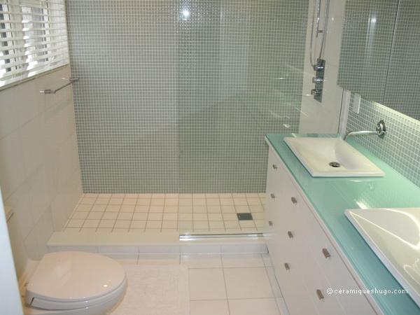 Pastilhas De Vidro Em Banheiro 02 Jpg 600 215 450 Pixels