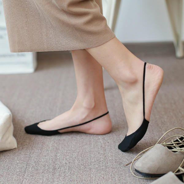 Women Summer Invisible Boat Socks Half Cotton Bottom Wire Harness Stealth Socks at Banggood