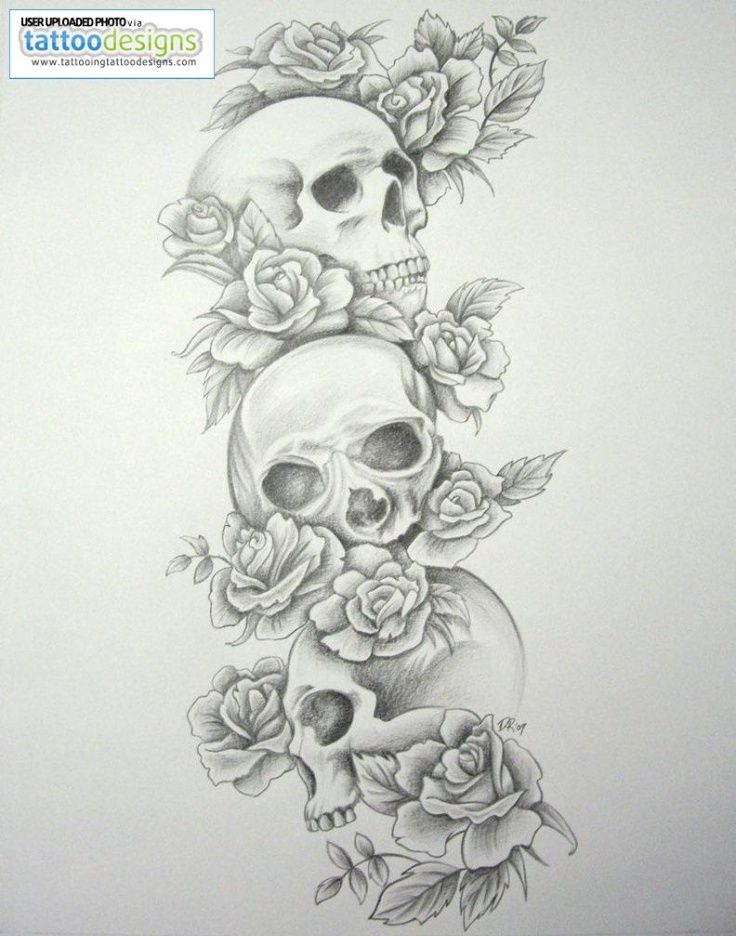 I'm picky about skull tattoos, but this is cute