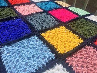Χειροποίητα πλεκτά Νατάσα  (Natasha's Crochet ): Κουβέρτα για μωρό πολύχρωμα τετράγωνα