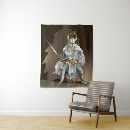 Crusader Knight Medium Wall Tapestry - home gifts ideas decor special unique custom individual customized individualized