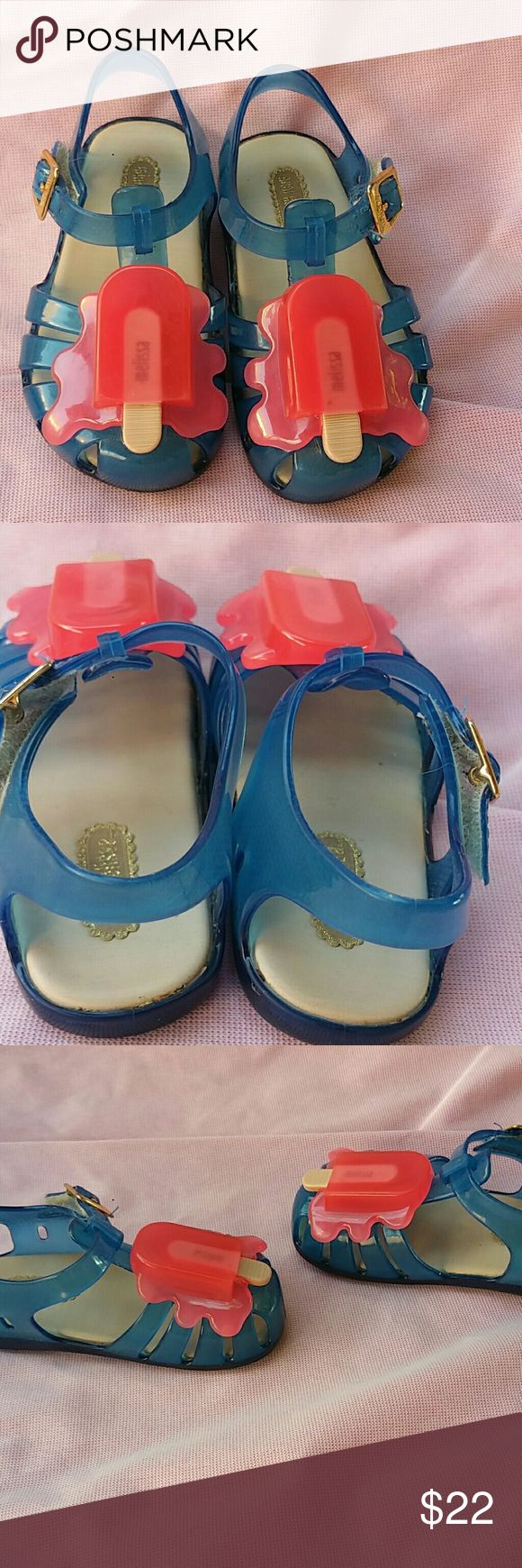 Mini Melissa Popsicle Jellies Cute jellies with melting popsicle accent. Padded insole. Adjustable buckle closure. Mini Melissa Shoes Baby & Walker