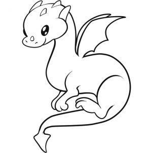 how to draw a dragon for kids step 8