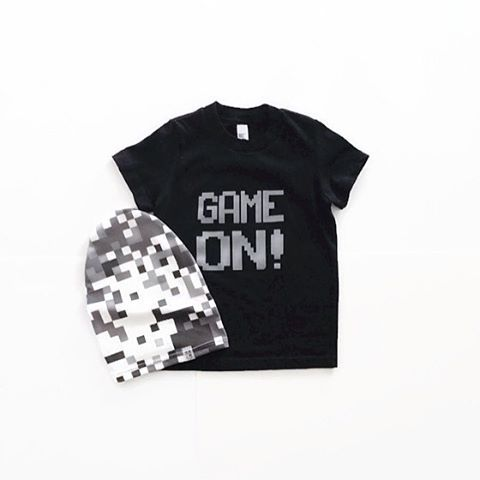 Get your GAME ON! 🔛 Now available...and Pixel Camo slouchy hat too. ▪️▫️▪️