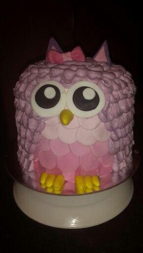 Owl cake Apr 2015