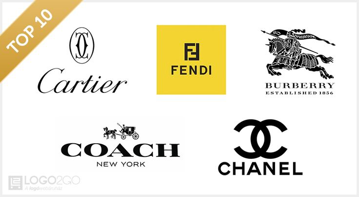 A luxus logói -luxury brands