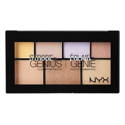 Make sure to check out NYX Cosmetics 'Strobe of Genius Illuminating Palette' to help create the perfect highlight.