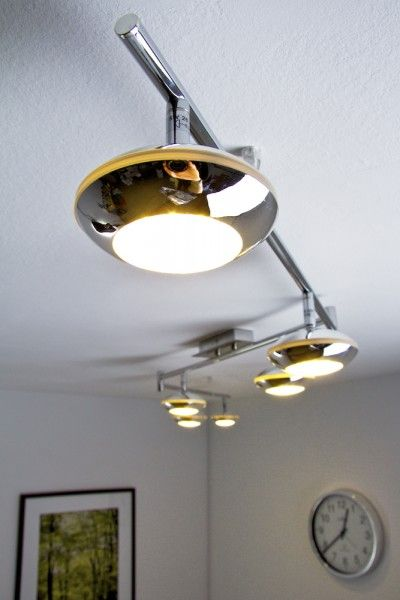 LED 6 lights ceiling bar spot 5 Watt chromed flush lamp decor lighting New 63012