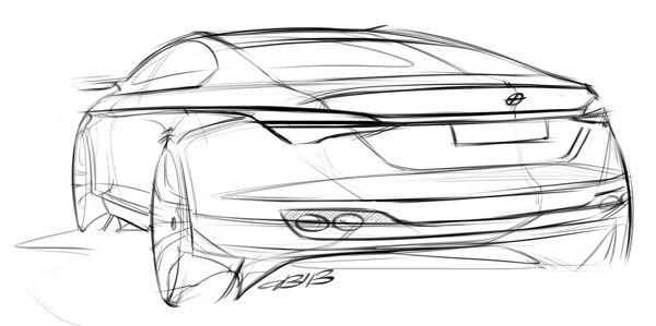 Car design sketches #3