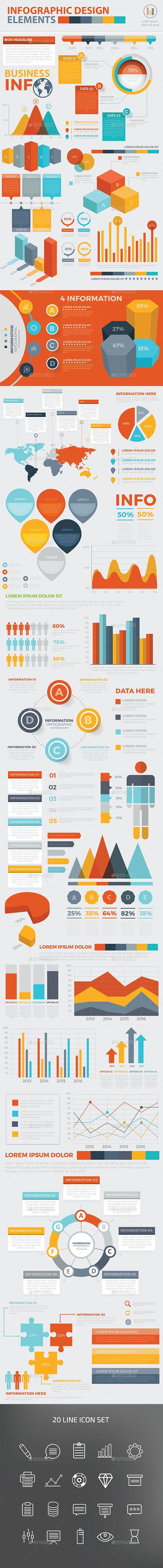 Modern Infographic Elements Design Template Vector EPS, AI Illustrator. Download here: http://graphicriver.net/item/modern-infographic-elements-design/16082166?ref=ksioks