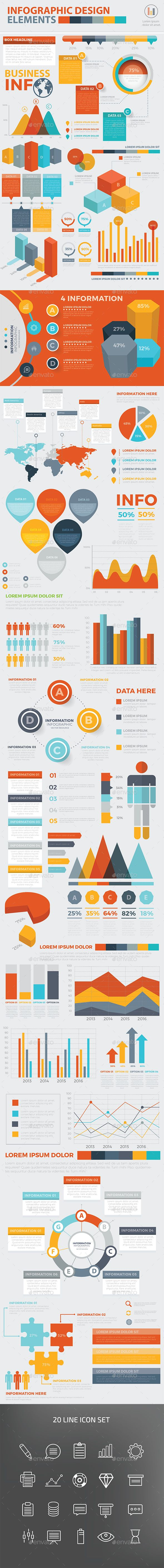 Modern Infographic Elements Design Template Vector EPS, AI Illustrator. Download here: http://graphicriver.net/item/modern-infographic-elements-design/16082166?ref=ksioks