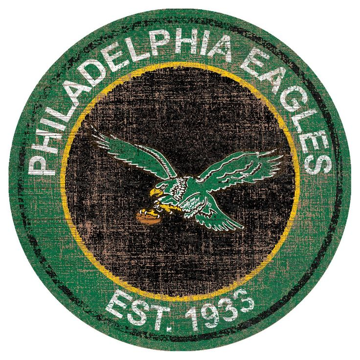 NFL Philadelphia Eagles Heritage Logo 24 Round Sign