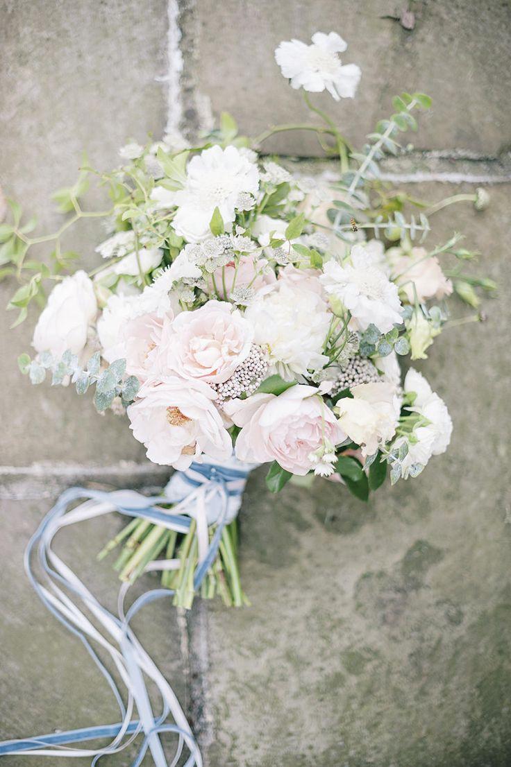 Pastel Wedding Bouquet | Dreamy English Elegance Floral Inspiration Shoot Captured by Fine Art Photographer Kathryn Hopkins Photography | Fallen Flower Design | Heart & Soul Cakes | http://www.rockmywedding.co.uk/english-elegance/