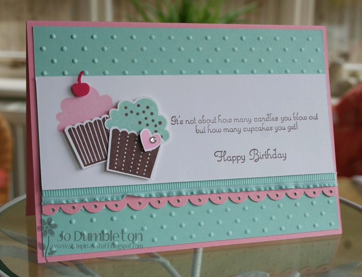 Stampin 'n Stuff: Create a Cupcake: Cards Ideas, Cards Scrapbook, Cards Birthday, Birthday Cards, Cupcakes Cards, Cupcakes Birthday, Cups Cake, Cupcakes Builder, Cupcakes Punch