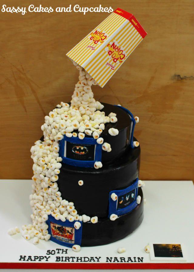 Gravity Defying Popcorn cake - Cake by Sassy Cakes and Cupcakes (Anna)