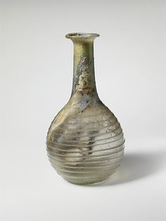 Faversham, Kent, King's Field. Anglo-Saxon Glass bottle, In a 1950's study, of 266 Anglo-Saxon  glass vessels,175 were found in Kent, 68  were found in Faversham,