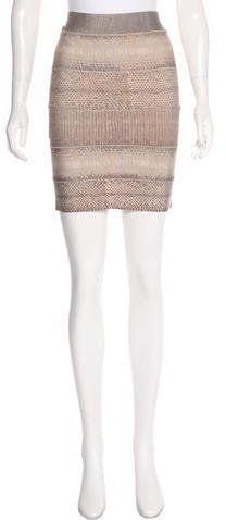 Herve Leger Printed Bandage Skirt