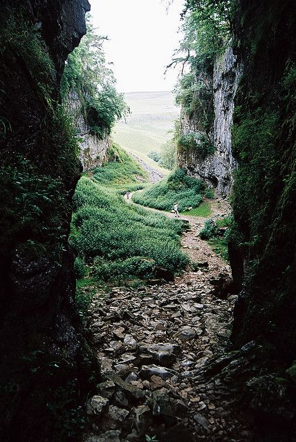 Gaping Gill is a natural cave in North Yorkshire, England