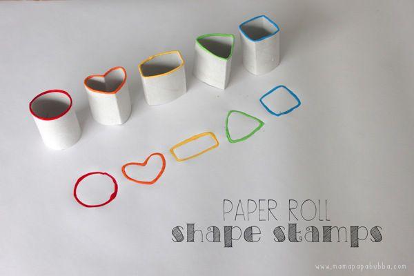Paper Roll Shape Stamps | Mama Papa Bubba