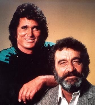 Victor French, seen here in a publicity still with actor Michael Landon.