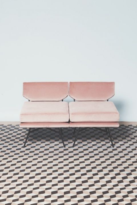 Pink sofa via http://imyass.vsco.co. The colour, the textures and the print are all very 60's-esc. I think this image has a really fun flirty vibe to it.