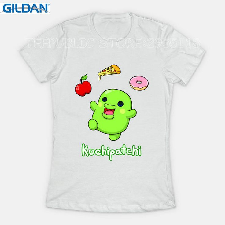 Gildan Custom T Shirt Printing Regular Short O-Neck Womens Tamagotchi Kuchipatchi Tees #Affiliate