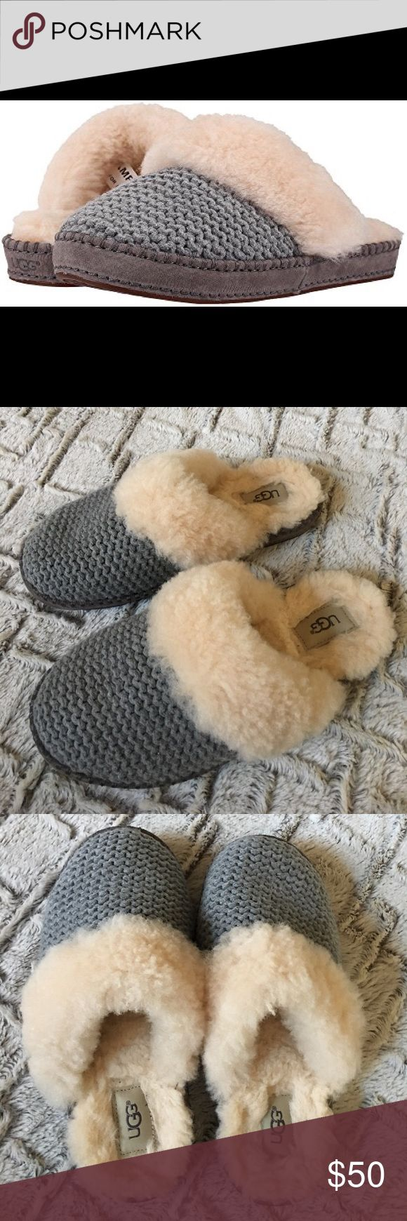 Gray sweater UGG slippers Gray sweater UGG slippers. Very warm. Size 7. In excellent used condition. UGG Shoes Slippers