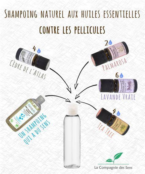 Shampoing anti-pelliculaire aux huiles essentielles pour éliminer les pellicules et assainir le cuir chevelu