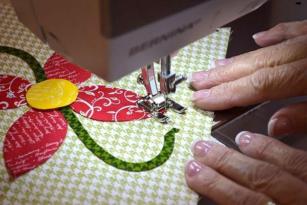 Learn machine appliqué tips from master quilter Jill Finley for creating beautiful quilt squares. Find tips on How to Machine Appliqué at WeAllSew.