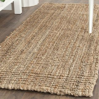 Shop for Safavieh Natural Fiber Hand-Woven Chunky Jute Runner Rug (2'6 x 8'). Get free shipping at Overstock.com - Your Online Home Decor Outlet Store! Get 5% in rewards with Club O! - 12349077