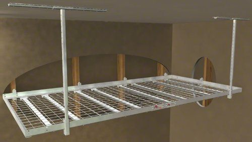 Strong Racks 4'x8' 1000 LB Overhead Wall Shelf by The Garage Organization Company. Save 7 Off!. $249.00. The 4'x8' 1000 Pound Overhead Wall Shelf is capable of holding up to 1000 pounds of storage! This 4'x8' 1000 Pound Overhead Wall Shelk hangs 29.5 to 41.5 inches from the ceiling depending on the customer's preference. All overhead storage products from The Garage Organization Company are constructed using only the highest quality materials, and our overhead rack design uses...