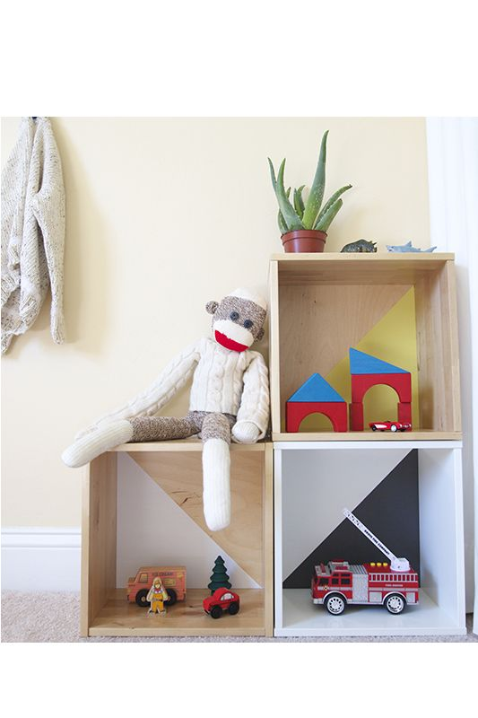 Quick & Easy DIY Modern Toy Storage - Scandinavian-inspired kid's rooms are full of color and toys–they are mini, magical wonderlands that are eclectic and mode…: