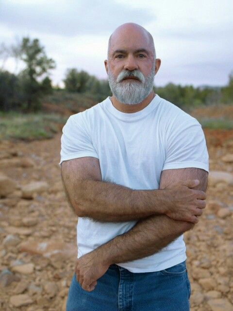 Hairy Muscle Daddy Beards Going Gray Men Photography -1383