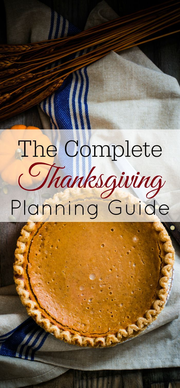 Thanksgiving planning guide, thanksgiving planner, stress-free thanksgiving