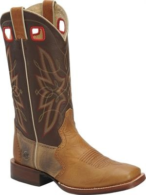 Men's Double H Boot Buccaroo Widesquare Toe - Carmel/Brown