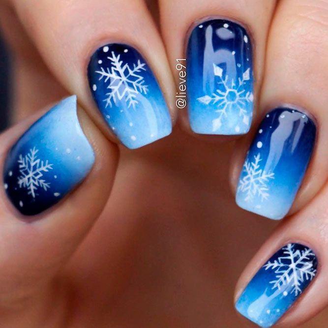 Incredible Christmas Nails Ideas With Snowflakes On Nail Designs Glitter Snowflake Nail Art Christmas Nail Art Designs