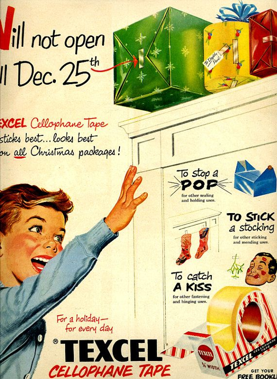 Vintage Cellophane Tape Ad