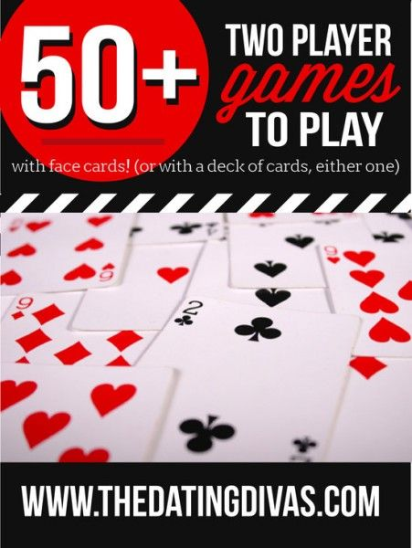 A giant list of card games for two players- perfect for an easy, at-home date night.