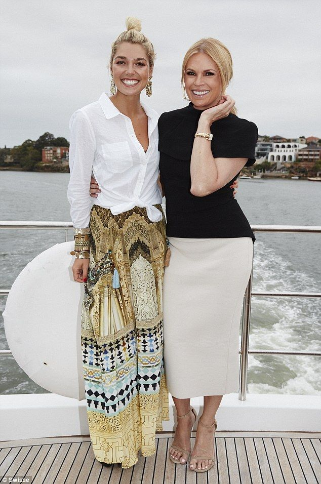 What a pair! Fellow Swisse ambassador Sonia Kruger looked fabulous in a chic monochrome ensemble