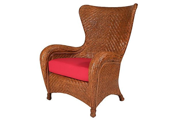 "Nova Wing Chair, Honey33""W x 37""D x 44""H 899."